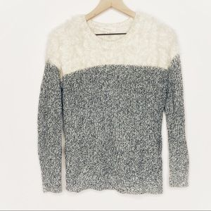 Two by Vince Camuto Fuzzy Cream Marled Sweater